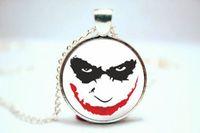 american joker - 10PCS Joker Face Pendant Necklace Glass Photo cabochon necklace