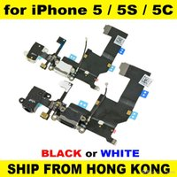 Wholesale Quality Black White Headphone Audio Jack Dock Charger Charging Connector Flex Cable Ribbon Replacement for iPhone G S C