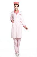 Women beauty salon service - OEM nurse uniform beauty salon physician service lab coat cotton medical nursing doctor scrub set uniform