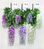 Wedding plastic rattan - Artificial flower Wisteria vine rattan Tofu pudding wedding decoration simulation silk hanging plastic