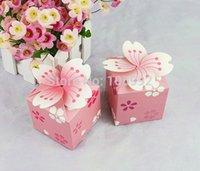 Wholesale Cherry Blossom Wedding Favor Boxes - Romantic cherry blossom candy box Wedding candy box 100pcs lot
