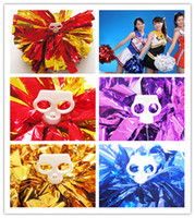 Wholesale New Arrive Game pompoms g Cheering pom pom Cheerleading supplies Color can choose