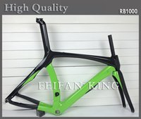 carbon frame road bicycle - 2015 MCipollini RB1000 carbon road frame carbon frame for road bicycle bicicleta carbono K glossy black and green