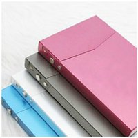 Wholesale New Hot Metal Pocket Business Name Credit ID Name Card Cigarette Case Metal Box Holder