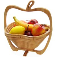 bamboo picnic - Fruit Basket Picnic Basket Folding Storage Basket Unique Shape Design Bamboo Material for Sale EB