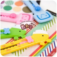 Wholesale Silent love Lovely creative cartoon paper knife edged knife wallpaper knife student stationery optional