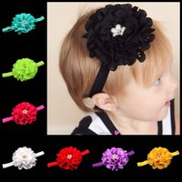 Wholesale Hot Selling High quality headband Baby Hair Accessories color Pearl Diamond Tiara Kid Hair Bands