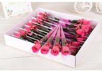 Bouquet Rose Artificial 30pcs flor de seda falso Flores Home Decor Bouquets de casamento para a festa de Natal decorativas flores Dia dos Namorados