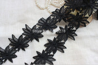 antique trims - Lace Trim White Black Venise Lace Trim antique lace trim maple leaves lace trim yards