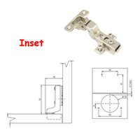 Wholesale Inset Stainless Steel Soft Close Hydraulic Cabinet Hinges