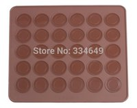 almond cake - Muffins Almond round cakes tools Factory price wolesale size cm Cavity Donu Macaron Silicone Mat Christmas bakeware