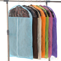 Wholesale Home Dress Clothes Garment Suit Cover Zipper Bags Dustproof Storage Protector size S M L YK