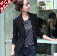 Wholesale 2014 new fashion Korean wild Slim a buckle women Slim small one button suit jacket xxl size Business Blazer Suit