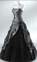 purple plus size wedding dresses - Purple Gray Bridal Gowns Hot Sale Elegant Taffeta Plus Size Strapless With Draped Brooch Tulle Long Tulle Wedding Dresses