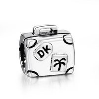 bead jewelry for sale - Hot Sale Sterling Silver Suitcase European Floating Charm Beads for DIY Bracelet Snake Chain Fashion Jewelry
