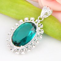 artistic weddings - Best Wholesle Price Artistic Fire Oval Green Quartz Crystal Gems Sterling Silver USA Israel Wedding Engagement Pendants Weddings