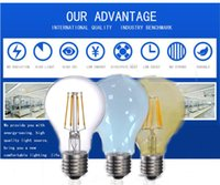 ball lamp shade - Loft Energy Saving Lamps W LED Edison Light Bulbs E27 E26 Ball Light Vintage Edison LED Filament bulbs Clear Glass Shade AC110 V