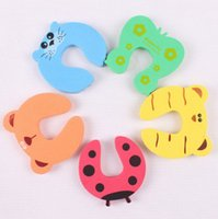 baby gates - Baby Gate New x Baby Safety Finger Pinch Guard Door Stopper Baby Safety Products gate card Animal Model