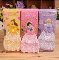 baby stationery paper - LJJD3843 Princess pencil case D Princess stationery Baby Princess Pencil box Cartoon pencil box Best gift for kids