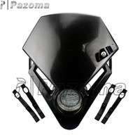 Wholesale PAZOMA Universal Motorcycle Headlight Street Fighter Bike Motorcycle Accessorier Dirt Bike LED Vision Headlights Black