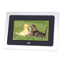 Wholesale 7inch HD TFT LCD Digital Photo Frame with Slideshow Transparent Frame Alarm Clock MP3 MP4 Movie Player with Remote Desktop