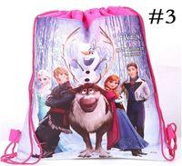 Wholesale Frozen Backpack Kids Shopping Bags Present Christmas Decoration Drawstring Bags Kids Backpacks Handbags Children School Bags