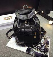 Wholesale Modern stylish Korean Lady Women PU Leather Backpack Shoulder handbag Tote Hobo Purse Leisure Double shoulder bag school bag