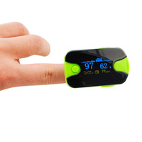 Wholesale New Color OLED Fingertip Pulse Oximeter With Audio Alarm Pulse Sound Spo2 Monitor Green Finger Puls Oximeter