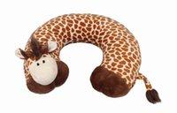 Cheap Soft Plush Animal U Shape Pillow Outdoor Giraffe Travel Rest Car Neck Pillow Office Pad Cushion ZYP6*1