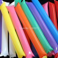 Wholesale 100pcs Brand New colors PP inflatable stick air bang Lala Rods Cheering stick Cheering Toys for Party Match Freeshipping