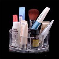 Wholesale Crystal Clear Heart shaped Storage Box Cosmetics Storage Box Foundation Brush Storage Box