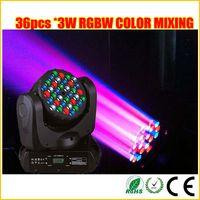 Rgbw conduit faisceau mobile de la tête Avis-Mélange des couleurs RGBW LED Cree 36 * 3W LED stade de faisceau de la tête de désherbage lumière se déplaçant