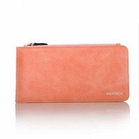 best european phones - 1 Piece High grade Women s Wallet Fashion Accessories Latest Simple PU Leather Card Slots Card Package Long Wallet best holiday gifts
