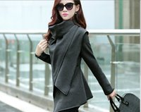 Wholesale Korean version of the new long sleeved cloak thin and long sections of early autumn wool coat