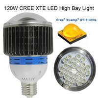 Wholesale 120W LED HIGH BAY LIGHT CREE XTE Breathing radiator workshop warehouse toll station Replace W FEDEX