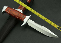 Wholesale New Wood handle Fixed Blade Survival Bowie Hunting Knife K313