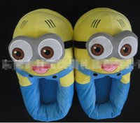 Wholesale 18 OFF drop shipping Length CM quot D Despicable ME Minion Stewart Figure Shoes Plush TOY Slipper Doll pairs