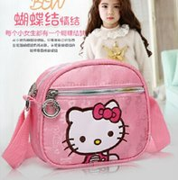 best childrens book - Childrens Hello Kitty Shoulder Tote Bag Kids Adjustable Single Shoulder Cartoon Message Shopping Lunch Book Bags The Best Christmas Gifts