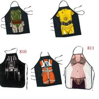 Wholesale Party Product Funny STAR WARS PRINCESS leia Bobo Fett Darth wader Luke Skywalker slave Apron Character Costume Apron Cooking Party Apron