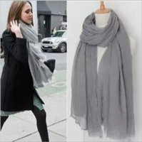 fashion cotton scarf - Fashion Infinity Scarves For Women Ring Pashminas Summer Shawls Scarfs Pure Cotton Pure Bright Color Voile Wrap I282