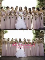 Cheap chiffon bridesmaid gowns Best long prom dresses