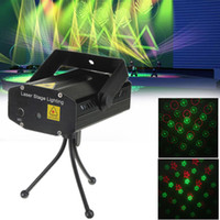 Wholesale Mini Laser Stage Light with Sound Activation Stroboflash for Party Bars LIF_228