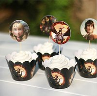 baking training - How to Train Your Dragon Paper Cupcake Wrappers Decorating Boxes Baking Cake Cups With Toppers Picks For Kids Xmas Birthday Party Supplies