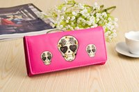 Wallets skull purses - Personalized Fashion Skull Purse Women New Style Long Wallet Leather Clutch Wallet Hot sale