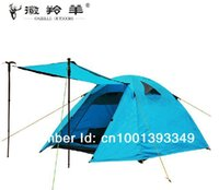 aviation space - LARGE SPACE person tent SEASON aviation Aluminum rod double tent layer waterproof camping tent