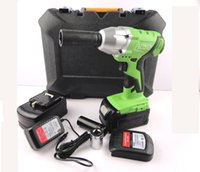 Wholesale High Capacity cordless rechargeable electric wrench impact wrench socket wrench with battery