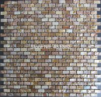 Wholesale Natural shell mosaic tiles x20x2MM mother of pearl tiles kitchen backsplash tiles bathroom wall tiles decorate material