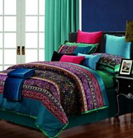 bags egyptians - Luxury Egyptian cotton paisley bedding set queen quilt duvet cover king size bed in a bag sheets bedspreads bedsheets linen