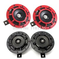Wholesale car NEW DB Red Black Horn Compact Super Tone Loud Blast For Subaru Impreza