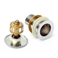 Wholesale New Arrival Sink Pop Up Drain W O Without Overflow For Bathroom Basin Brass Chrome High Quality